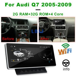 For Audi Q7 2006-2009 2+32G Car GPS Radio Stereo Player Display Auto Navigation