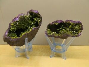 Crystal & Fossil Art - Deep Purple Amethyst Geode + Small Eco Stand