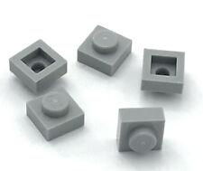 Lego 5 New Light Bluish Gray Plates 1 x 1 Dot Pieces