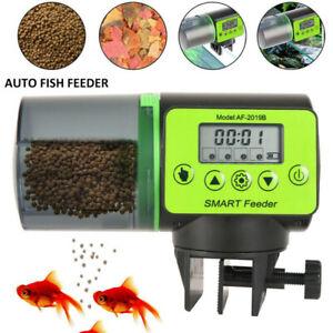 LCD Digital Automatic Fish Food Feeder Tank Aquarium Feeding Timer Dispenser