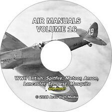 WWII British Flight manuals on CD Tempest Mosquito Spitfire Lancaster and more!
