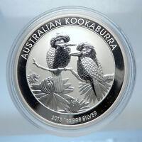 2013 AUSTRALIA Silver 1 Dollar w 2 Kookaburra Birds Australian 1oz Coin i72477