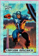 Marvel Masterpieces 1994  Silver Holofoil Card (1 of 10) ( Captain America )