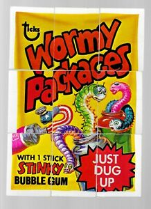 1970s WACKY PACKAGES CHECKLIST #4 COMPLETE PUZZLE - 9 CARDS AS PICTURED