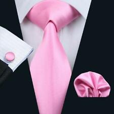 USA Men Necktie Tie Set Silk Pink Paisley Solid Stripe Polka Dot Tie Set Wedding