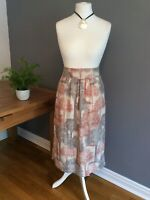 White Stuff Summer Skirt Size 12 Palm Tree Print 100% Linen With Pockets