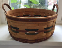 "Collectible Longaberger Baskets Shades Of Autumn Basket & Liner 1995 Large 11+"""