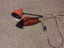 Lampe de bureau retro année 70 orange