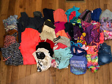 LOOK! 37pc lot Girls sz 14 16 Summer shirts shorts dresses rompers! Under Armour