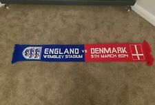 England v Denmark official Vintage Football Scarf Soccer National Team 0605