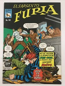 1971 SPANISH COMICS EL SARGENTO FURIA #102 SGT NICK FURY LA PRENSA MEXICO