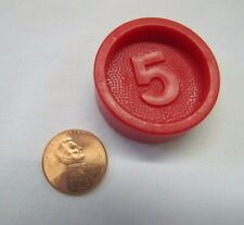 Vintage Fisher Price Red 5 Cent Coin Money Replacement for Cash Register Nickel