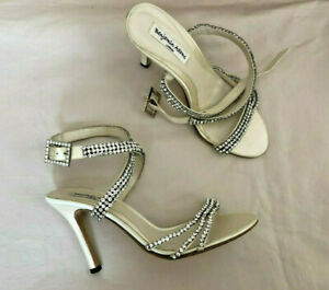 Benjamin Adams London Astor Swarovski Crystal Heels Wedding Bridal Shoes 7.5