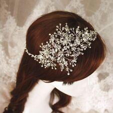 Elegante handmade Sposa Cerchietto Crystal rhynestone Damigelle Parrucchino