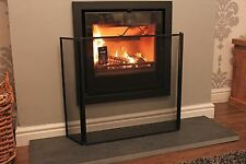 "Three fold Fire Guard I Screen in Black I With wall fixing kit H-61cm (24"")"