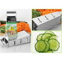4 Sided Box Stainless Steel Cheese Carrot Food Grater Shredder Slicer Cook Tool