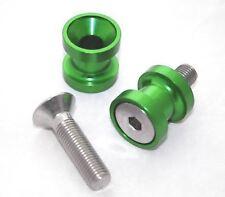 Green Paddock Stand Bobbins - M10 KAWASAKI ZX-9R Ninja 98-01