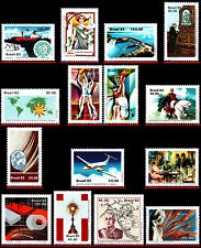 BRAZIL 1983 - LOT WITH 15 STAMPS OF THE YEAR - SCOTT VALUE $13.30, ALL MNH VF
