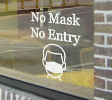 No Mask No Entry Business Signage Sign Vinyl Wall Quote Sticker Decal