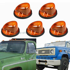 5xClearance Roof Cab Marker Light Amber Cover Lens+Base For 73-87 GMC K1500/2500