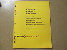 Wisconsin New Holland VG4D VG4 VG 4 D engine motor parts manual