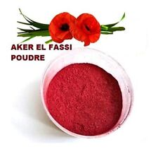 AKER EL FASSI  ROUGE A LEVRES EN POUDRE MAKE UP POWDER OF POPPY (COQUELICOT)