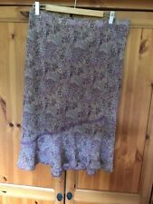 berkertex Size 16 Purple Floral Skirt Viscose Lined Immaculate