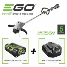 EGO power+ Cordless Battery Strimmer C/W 2AH 56v lithium Ion Battery & Charger.