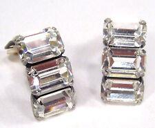 SoHo® Ohrclips mit vintage 1960s baguette Kristalle crystal baguette im Art déco
