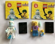 LEGO 71013 Series 16 Minifigures Ice Queen & Babysitter w/ Baby LOT CMF