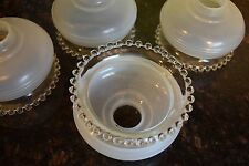 4 Light Replacement Glass Shades Candlewick Style