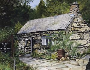 Acrylic Painting Of The Ugly House In Wales