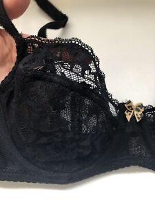 Juicy Couture Bra Lace 34B Black Balconette