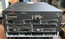 Brocade BR-MLXE-4 AC Router w 2x NI-MLX-MR, 3x NI-X-HSF,  2x NI-MLX-10Gx8-D