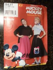 Simplicity 9431 Costume Disney Mickey Mouse Skirt for Miss size 8-18 Uncut