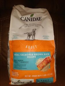 Canidae Dog food Salmon and Brown Rice 7LB bag