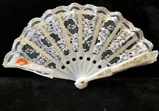 Vintage Lace Hand Fans (10), Handmade in Spain.