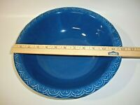 Vintage McCoy 1968 Made In USA Blue Pottery Basin Bowl, BOWL ONLY, 7516, Rare!