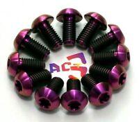 Avid 12 pcs Black M5 x 10mm Titanium//Ti Bolt Shimano Disc Brake Rotor Hayes
