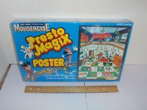 "Vintage Disney Mousercise ""Presto Magix"" Poster - sealed"