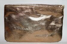SEPHORA Gold Tone Zippered Beauty Cosmetic Makeup Clutch/Bag/Purse NEW