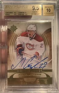 13-14 Ultimate Collection Alex Galchenyuk Rookie Auto /99 BGS 9.5 2013-14