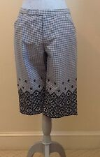 Anna Sui Long Gingham Shorts With Lace - Blk/White - 2/4