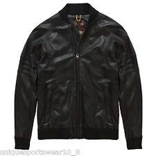 Men's Timberland Mount Major 100% Montone Bomber In Pelle Da Motociclista L £ 589