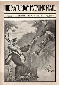 1906 Saturday Evening Mail September 8-Teddy Roosevelt; Broadway actresses;