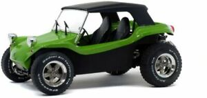 SOLIDO 1802703 MEYERS MANX BUGGY diecast model with soft roof green / black 1:18