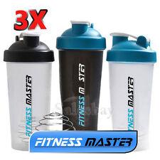 3X GYM Protein Supplement Drink Blender Mixer Shaker Shake Ball Bottle Cup 700ml