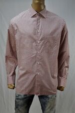 Authentic Isaia Napoli Men's dress cotton shirt US 17.5 Made in Italy.