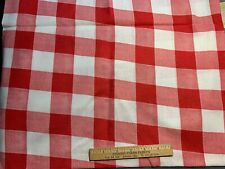 Vintage Cotton Feedsack Fabric 30s40s CUTE Red & White Check Gingham EXC