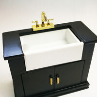 1/12 Dollhouse miniature accessories mini alloy double faucet for decoration ep